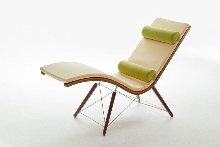 Designer Relaxliege Siesta Easy Nussbaum Holz in Nussbaum