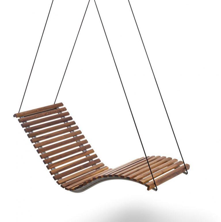 Hängeliege Siesta Sky Uno Holz Schwebelliege in Nussbaum