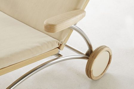 Relaxliege Siesta Stabil Classic Holz Edelstahl in Esche