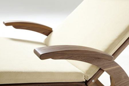 Relaxliege Siesta Stabil Natur Holz in Nussbaum