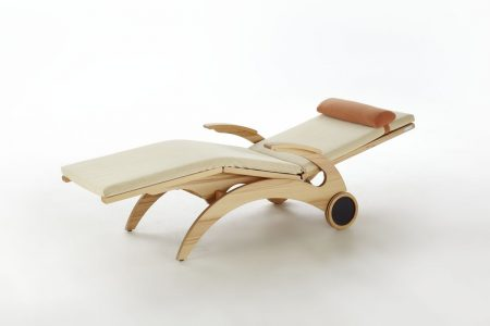 Relaxliege Siesta Stabil Natur Holz in Kernbuche