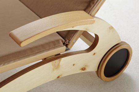 Relaxliege Siesta Stabil Natur Holz in Zirbe